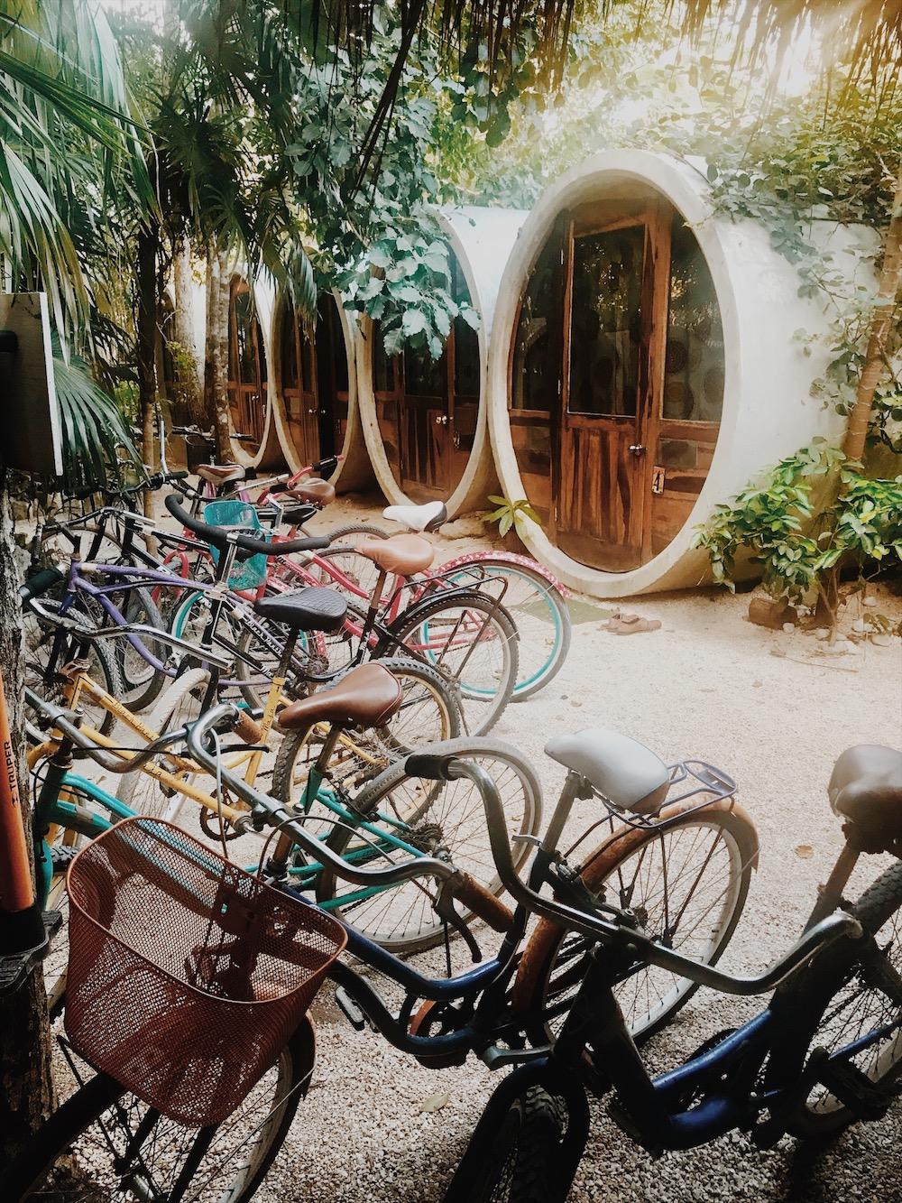 Fahrräder Verleih vom Tubo Hostel in Tulum, Mexiko