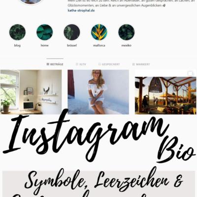 Symbole, Leerzeichen & Sonderzeichen zum kopieren – Instagram Tipps Biografie
