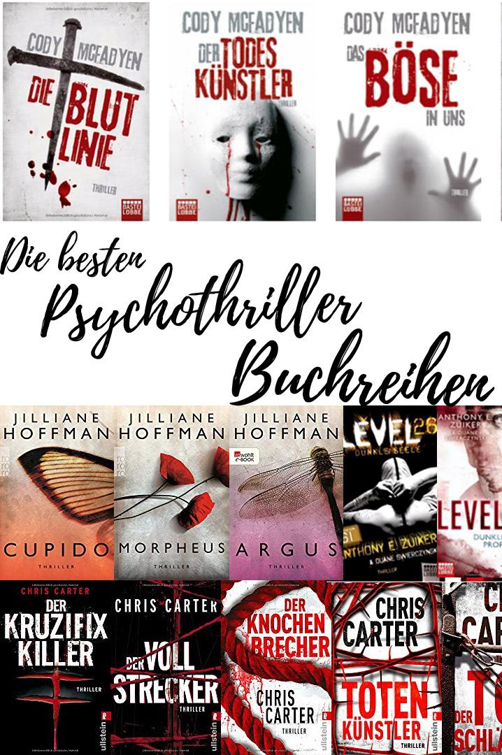 Die besten Psychothriller Buchreihen