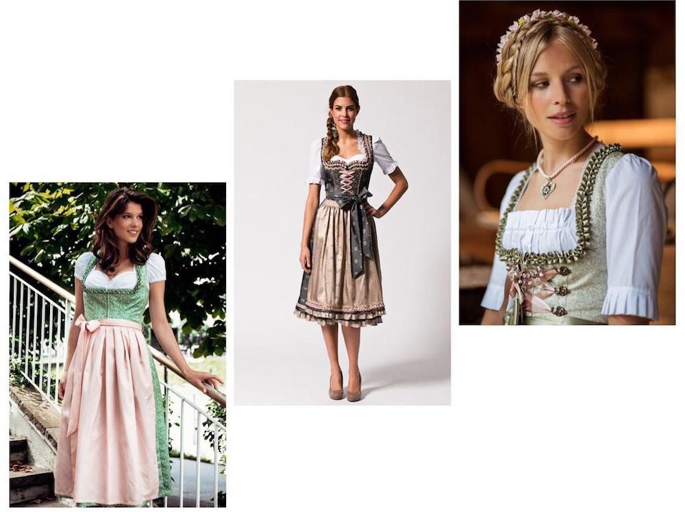 Dirndl Look in grün