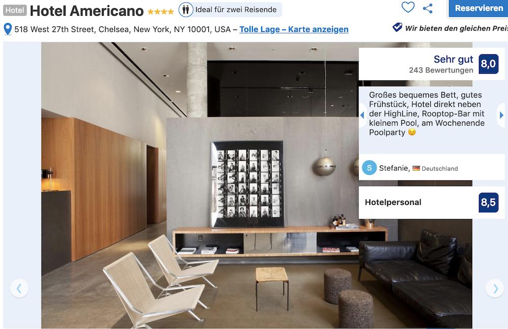 New York Hotel Americano